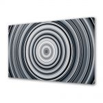 Tablou Canvas Luminos in intuneric VarioView LED Abstract Modern Cercuri B&W
