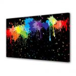 Tablou Canvas Luminos in intuneric VarioView LED Abstract Modern Pete colorate