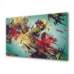 Tablou Canvas Luminos in intuneric VarioView LED Abstract Modern Vintage abstract