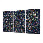Set Tablouri Multicanvas 3 Piese Abstract Decorativ Culori