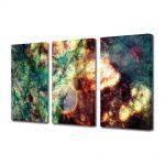 Set Tablouri Multicanvas 3 Piese Abstract Decorativ Crepuscul