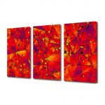 Set Tablouri Multicanvas 3 Piese Abstract Decorativ Aproape de soare