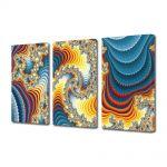 Set Tablouri Multicanvas 3 Piese Abstract Decorativ Diamante
