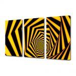 Set Tablouri Multicanvas 3 Piese Abstract Decorativ Spirala spre infinit