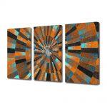 Set Tablouri Multicanvas 3 Piese Abstract Decorativ Scara abstracta