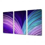 Set Tablouri Multicanvas 3 Piese Abstract Decorativ Carte abstracta