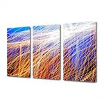 Set Tablouri Multicanvas 3 Piese Abstract Decorativ Plasa de lumina
