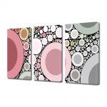 Set Tablouri Multicanvas 3 Piese Abstract Decorativ Margele
