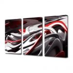 Set Tablouri Multicanvas 3 Piese Abstract Decorativ De plastic