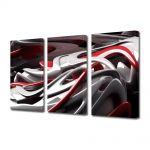 Set Tablouri Multicanvas 3 Piese Abstract Decorativ Plastic