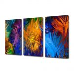 Set Tablouri Multicanvas 3 Piese Abstract Decorativ Fulgi