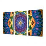 Set Tablouri Multicanvas 3 Piese Abstract Decorativ Motiv tribal