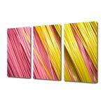 Set Tablouri Multicanvas 3 Piese Abstract Decorativ Paste