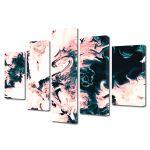 Set Tablouri Multicanvas 5 Piese Abstract Decorativ Dragon