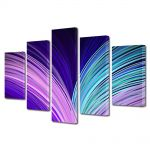 Set Tablouri Multicanvas 5 Piese Abstract Decorativ Carte abstracta