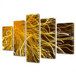 Set Tablouri Multicanvas 5 Piese Abstract Decorativ Tesla