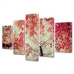 Set Tablouri Multicanvas 5 Piese Abstract Decorativ Toamna