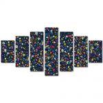 Set Tablouri Multicanvas 7 Piese Abstract Decorativ Culori
