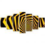 Set Tablouri Multicanvas 7 Piese Abstract Decorativ Spirala spre infinit