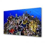 Tablou Canvas Animale Populatie de pesti in marea rosie