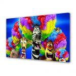 Tablou Canvas pentru Copii Animatie Madagascar 3 Europes Most Wanted Circus Afro