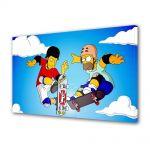 Tablou Canvas pentru Copii Animatie The Simpsons Homer si Tony