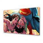 Tablou VarioView MoonLight Fosforescent Luminos in intuneric Animatie pentru copii Superman si Wonder Woman Selfie