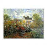 Tablou Arta Clasica Pictor Claude Monet The Garden of Monet at Argenteuil 1873 80 x 110 cm