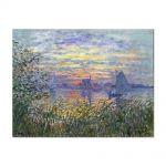 Tablou Arta Clasica Pictor Claude Monet Sunset on the Siene 1874 80 x 100 cm
