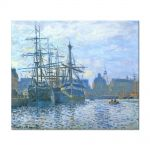 Tablou Arta Clasica Pictor Claude Monet The Havre, the trade bassin 1874 80 x 90 cm