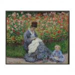 Tablou Arta Clasica Pictor Claude Monet Camille Monet and a Child in the Artists Garden in Argenteuil 1875 80 x 100 cm