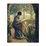 Tablou Arta Clasica Pictor Claude Monet Madame Monet Embroidering 1875 80 x 90 cm