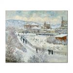 Tablou Arta Clasica Pictor Claude Monet View of Argenteuil in the Snow 1875 80 x 100 cm
