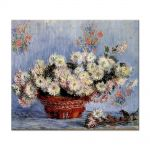 Tablou Arta Clasica Pictor Claude Monet Chrysanthemums 1878 80 x 90 cm