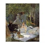Tablou Arta Clasica Pictor Claude Monet Lunch on the Grass, central panel 1865 80 x 90 cm