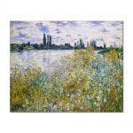 Tablou Arta Clasica Pictor Claude Monet Isle of Flowers on Siene near Vetheuil 1880 80 x 100 cm