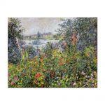 Tablou Arta Clasica Pictor Claude Monet Flowers at Vetheuil 1881 80 x 100 cm