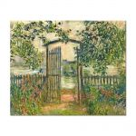 Tablou Arta Clasica Pictor Claude Monet The Garden Gate at Vetheuil 1881 80 x 100 cm