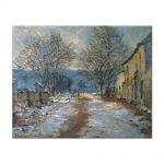 Tablou Arta Clasica Pictor Claude Monet Snow Effect at Limetz 1886 80 x 100 cm