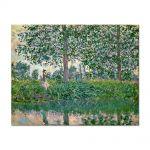 Tablou Arta Clasica Pictor Claude Monet Fishing on the River Epte 1887 80 x 100 cm