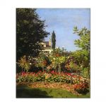 Tablou Arta Clasica Pictor Claude Monet Garden in Bloom at Sainte-Addresse 1866 80 x 90 cm