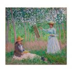 Tablou Arta Clasica Pictor Claude Monet In The Woods At Giverny Blanche Hoschede 1887 80 x 90 cm