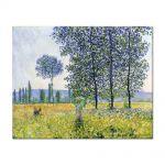 Tablou Arta Clasica Pictor Claude Monet Sunlight Effect under the Poplars 1887 80 x 100 cm