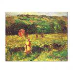 Tablou Arta Clasica Pictor Claude Monet The Promenade near Limetz 1887 80 x 100 cm