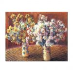 Tablou Arta Clasica Pictor Claude Monet Two Vases with Chrysanthems 1888 80 x 100 cm