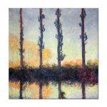 Tablou Arta Clasica Pictor Claude Monet Poplars -Four Trees 1891 80 x 80 cm
