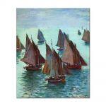Tablou Arta Clasica Pictor Claude Monet Fishing Boats, Calm Sea 1868 80 x 90 cm
