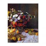 Tablou Arta Clasica Pictor Claude Monet Flowers and Fruit 1869 80 x 100 cm