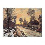 Tablou Arta Clasica Pictor Claude Monet Road at Louveciennes, Melting Snow, Sunset 1870 80 x 110 cm