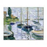 Tablou Arta Clasica Pictor Claude Monet Boats at rest, at Petit-Gennevilliers 1872 80 x 100 cm